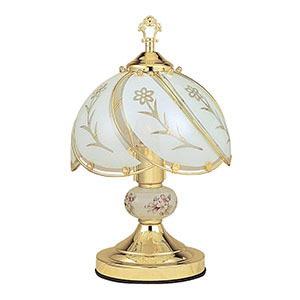 Best Touch Lamps Ore International White Glass Floral Touch Lamp